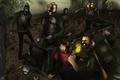 Картинка арт, зомби, Элли, The Last of Us, Джоэл, Последние из нас