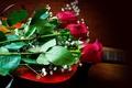 Картинка красные, розы, цветы