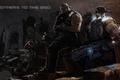 Картинка ночь, дождь, солдаты, ожидание, gears of war 3, Augustus Cole, Marcus Michael