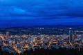 Картинка небо, природа, город, вечер