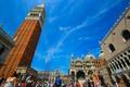 Картинка люди, Италия, Венеция, дворец дожей, пьяцетта, кампанила, собор Святого Марка