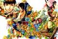 Картинка взгляд, девушка, цветы, оружие, аниме, арт, Tukiji Nao