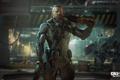 Картинка робот, пушки, мехи, Call of Duty: Black Ops 3, герой солдат