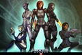 Картинка Mass Effect, Shepard, Ashley Williams, EDI, Tali, Liara T'Soni, Tali'Zorah