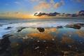 Картинка небо, облака, закат, океан