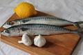Картинка лимон, рыба, чеснок