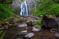 Картинка зелень, вода, камни, водопад, Калифорния, USA, США
