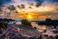 Картинка море, закат, краб
