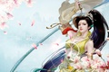 Картинка девушка, весна, арт, магнолия, фЭнтези
