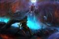Картинка меч, арт, мужчина, битва, Diablo III, Reaper of Souls, Malthael