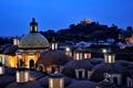Картинка крыша, небо, ночь, огни, Мексика, купол, Mexico