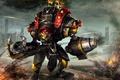 Картинка armor, warmachine, metal, fire, robot