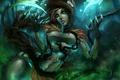 Картинка девушка, растения, арт, когти, league of legends, zyra