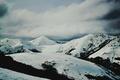 Картинка зима, небо, облака, снег, горы