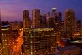 Картинка огни, Chicago, небоскребы, ночь, чикаго