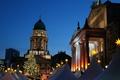 Картинка Германия, площадь, Рождество, Берлин, ярмарка, Жандарменмаркт, Немецкий собор