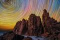 Картинка небо, звезды, скалы, Виктория, Австралия, Cape Woolamai