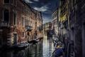 Картинка здания, Венеция, канал, лодки, город, архитектура, Италия