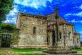 Картинка небо, трава, облака, дерево, Испания, монастырь, калитка