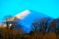 Картинка небо, снег, деревья, природа, гора