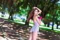 Картинка лето, взгляд, лицо, волосы, азиатка