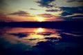 Картинка отражение, Природа, вода, небо, солнце