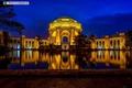 Картинка ночь, подсветка, Здание, San Francisco, Palace of Fine Arts