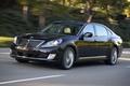 Картинка car, Hyundai, black, road, wallpapers, speed, Equus