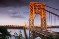 Картинка bridge, george washington, sunset orange