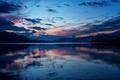 Картинка облака, горы, озеро, отражение, Австрия