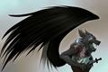 Картинка Wolf, wings, sword