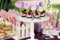 Картинка крем, десерт, черешня, выпечка, кексы