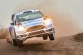 Картинка Форд, Фары, Пыль, Прыжок, Fiesta, WRC, Rally