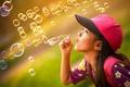 Картинка лето, пузыри, девочка