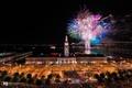 Картинка ночь, огни, новый год, Нью-Йорк, фейерверк, photographer, Kenji Yamamura