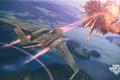Картинка взрыв, самолет, aviation, авиа, MMO, Wargaming.net, World of Warplanes