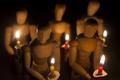 Картинка фон, свечи, фигуры