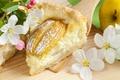 Картинка выпечка, яблочные цветы, пирог