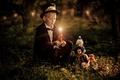 Картинка настроение, игрушки, свеча, малчик