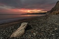 Картинка закат, пейзаж, берег, море