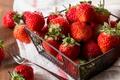 Картинка красный, ягоды, клубника, корзинка