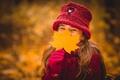 Картинка девочка, настроение, осень