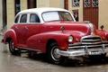 Картинка красный, ретро, улица, Pontiac