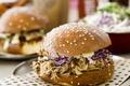 Картинка lettuce, sauce, pulled pork burger