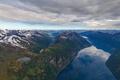 Картинка облака, снег, горы, Норвегия, фьорд, Hellesylt