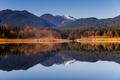 Картинка отражение, снег, гора Бейкер, Каскад вулканической дуги, Бейкер-Лейк, Северная Каскады, Вашингтон