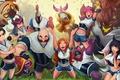 Картинка team, League of Legends, jax, Ahri, Malphite, lulu, Syndra