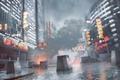 Картинка Небо, Город, Свет, Дождь, Здание, DICE, Battlefield 4