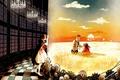 Картинка стекло, девушка, радость, птица, механизм, аниме, мальчик