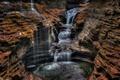 Картинка вода, скалы, водопад, поток, каньон, ущелье